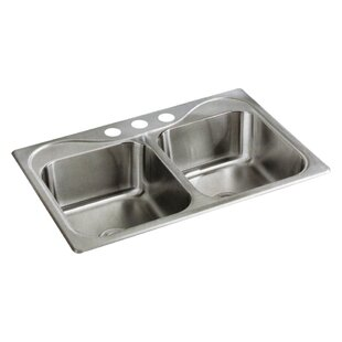 Review Southhaven 33 x 22 Double Bowl Kitchen Sink by Sterling by Kohler