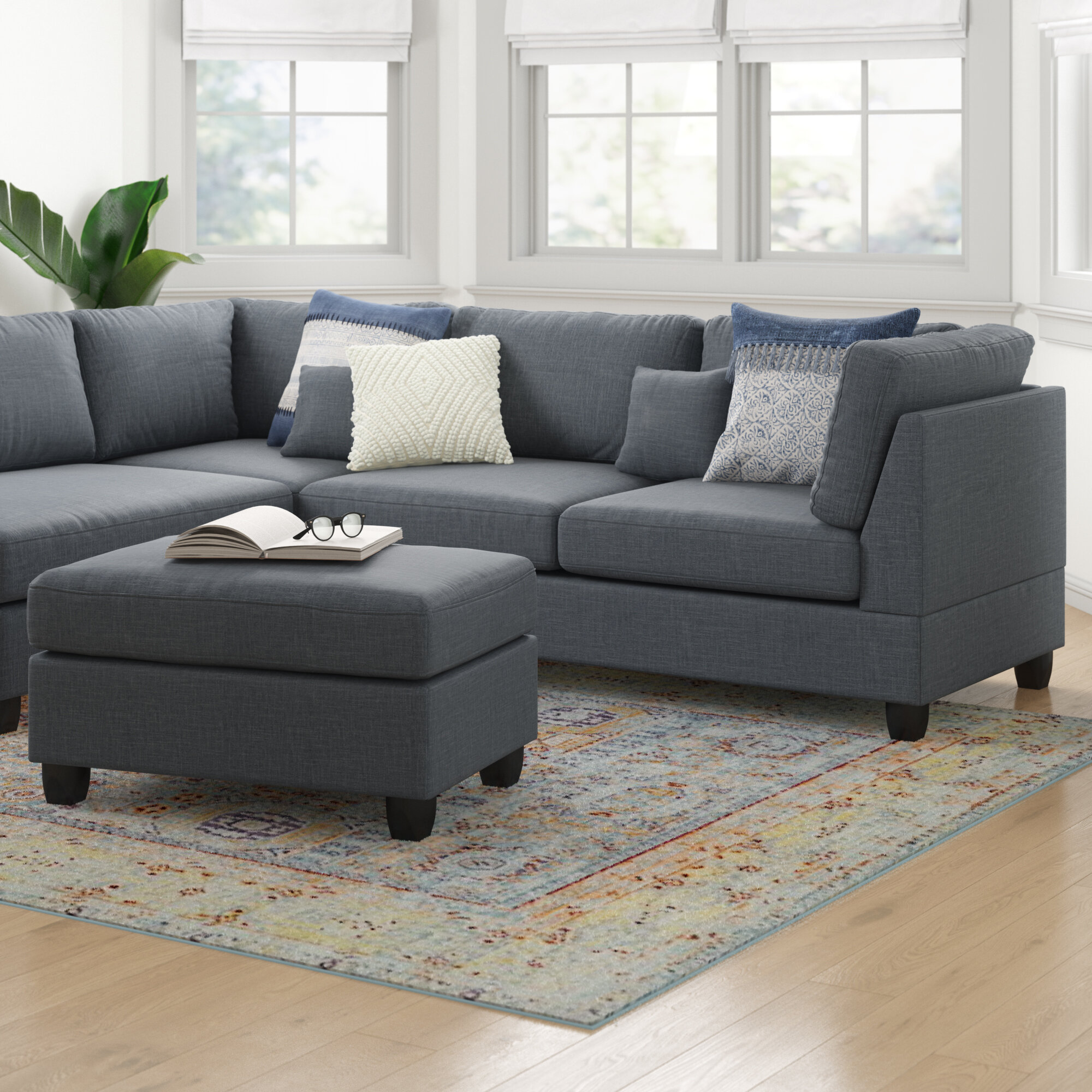Hemphill 104 Reversible Sectional With