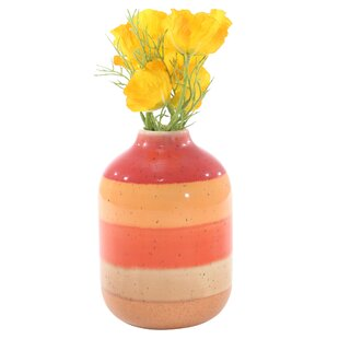 Orange Decorative Ceramic Table Vase