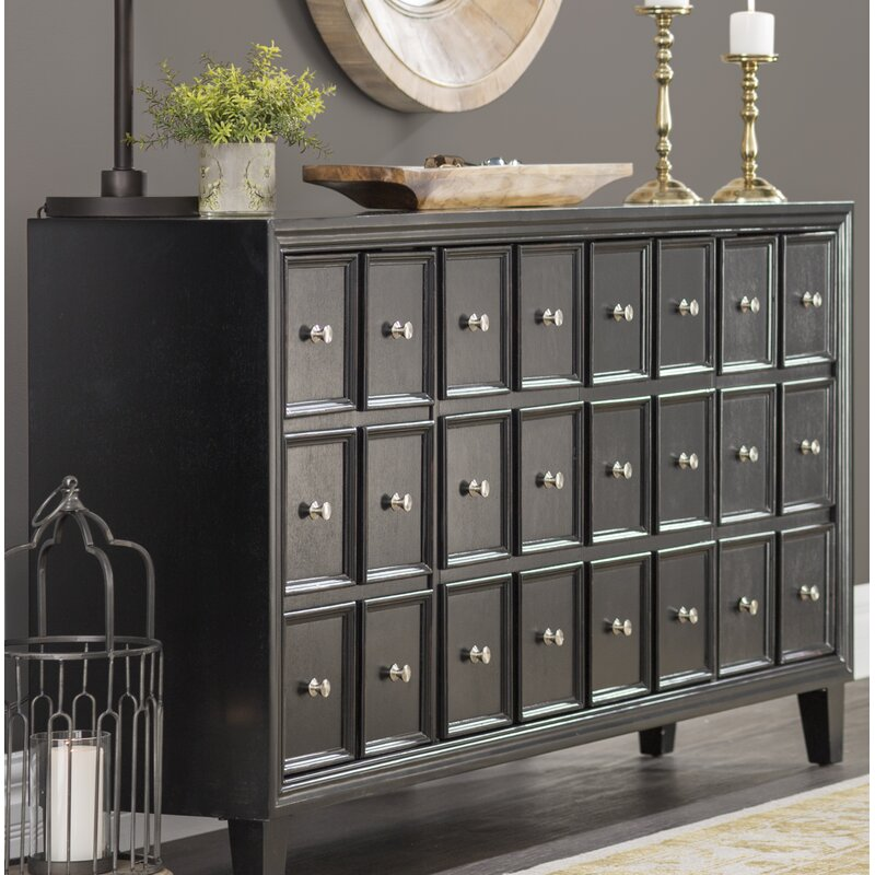 Totten 4 Door Accent Apothecary Chest