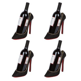 Caceres High Heel Holder 1 Bottle Tabletop Wine Rack (Set of 4)