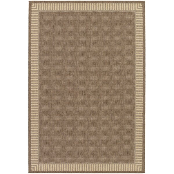 Charlton Home Westlund Wicker Stitch Cocoa/Natural Indoor/Outdoor Area Rug  U0026 Reviews | Wayfair