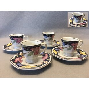 Derick 8 Piece Espresso Cups and Saucer Set