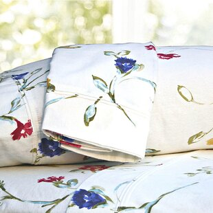 Ryleigh Garden Printed Extra Deep Pocket Flannel Sheet Set