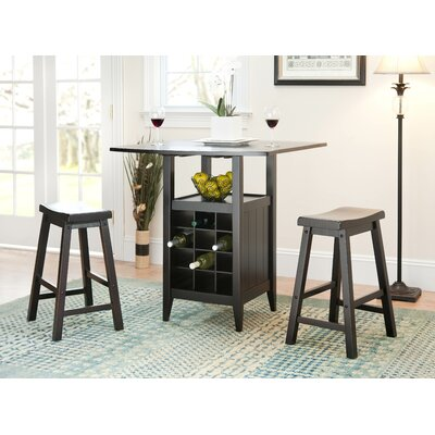 Carisbrooke 3 Piece Pub Table Set in Espresso by Alcott Hill