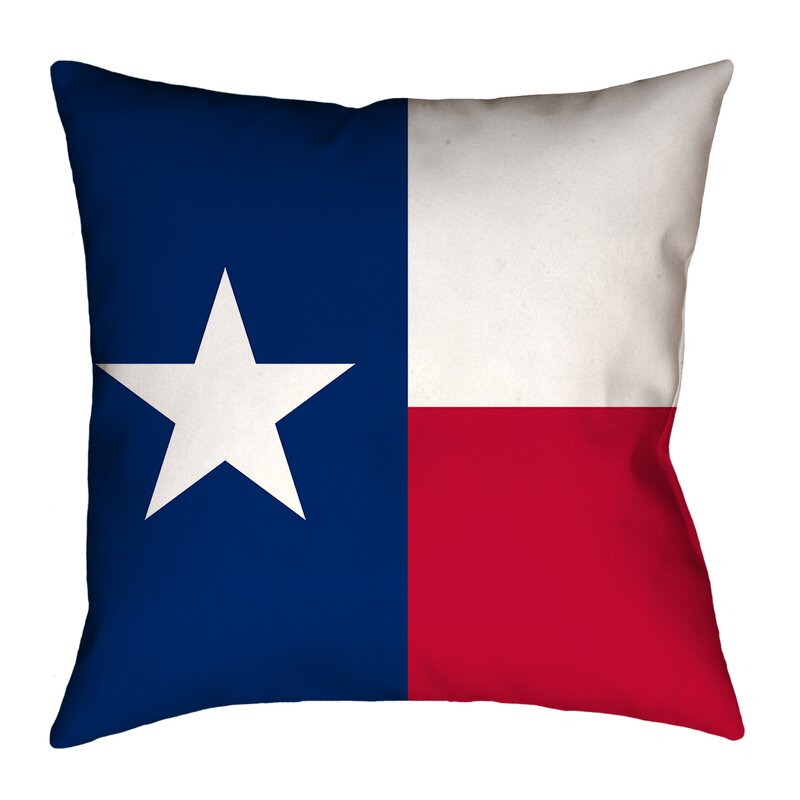 East Urban Home Centers Texas Flag In Faux Linen Throw Pillow Concealed Zipper Indoor Wayfair