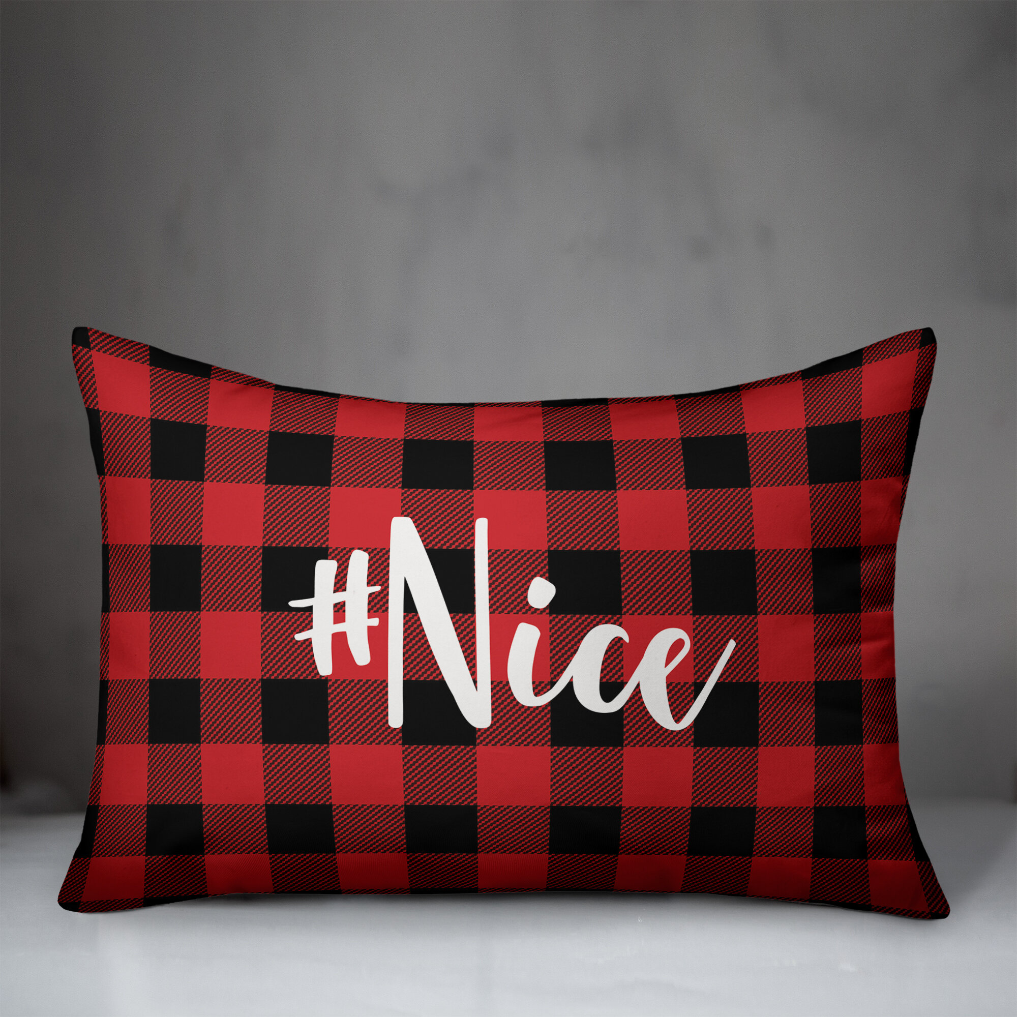 The Holiday Aisle Kris Nice In Buffalo Check Plaid Lumbar Pillow Wayfair