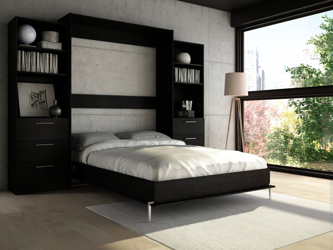 Murphy Bed Furniture Wade Logan Lower Weston Murphy Wall Bed Reviews Wayfair