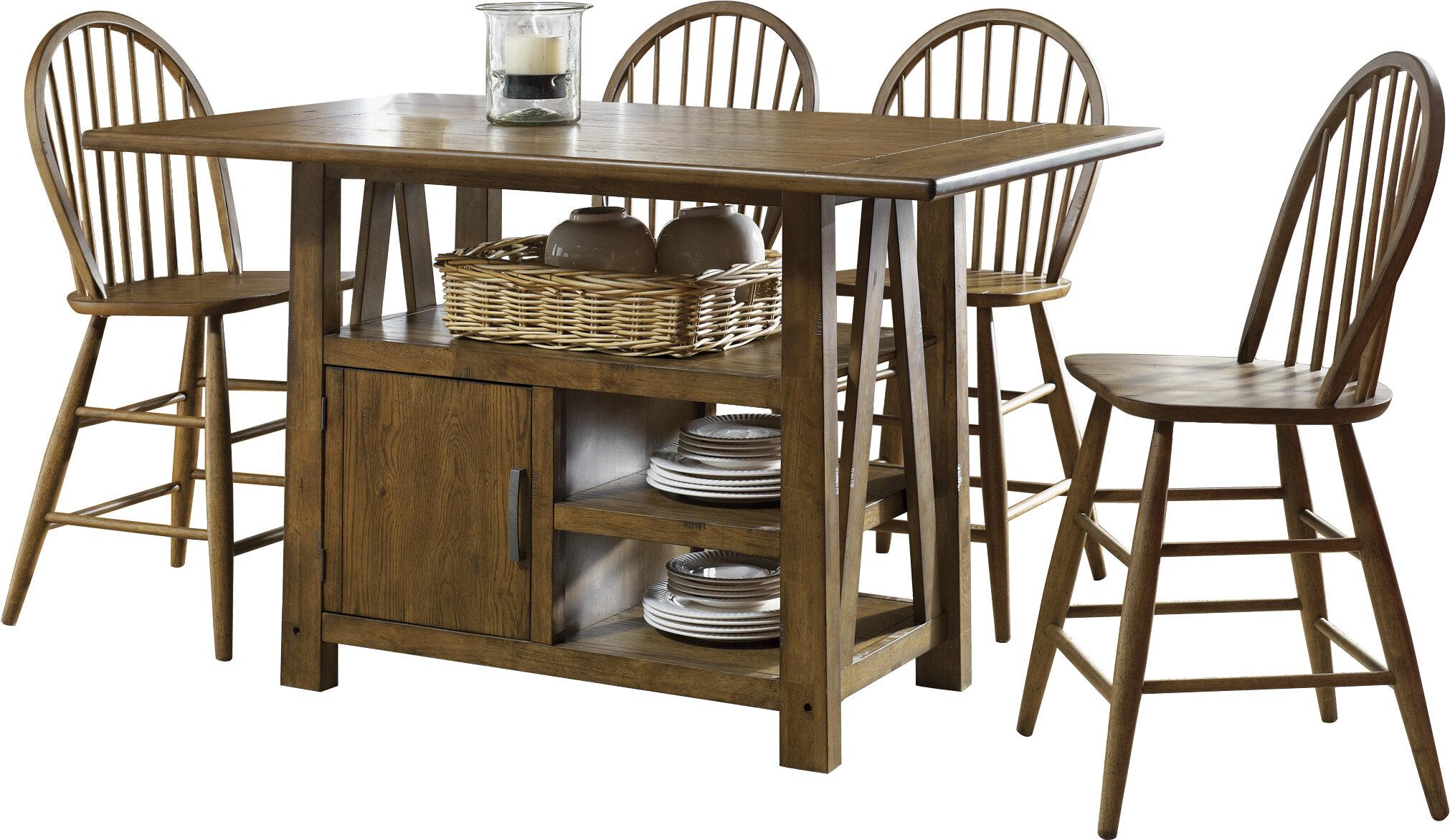 Liberty Furniture Farmhouse 5 Piece Counter Height Dining Set | Wayfair