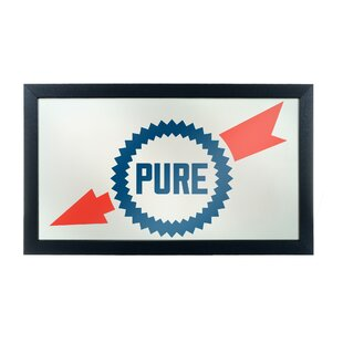 Trademark Global Pure Oil Wordmark Framed Logo Accent Mirror