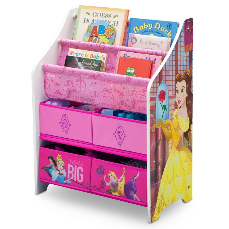 Delta Children Disney Princess Book and Toy Organizer & Reviews ...