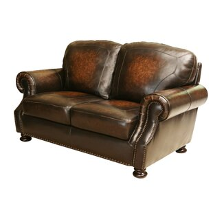 Damico Leather Loveseat