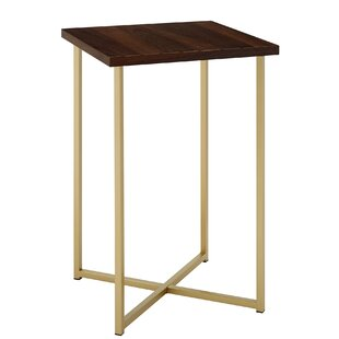 Modern contemporary large square end table allmodern save watchthetrailerfo