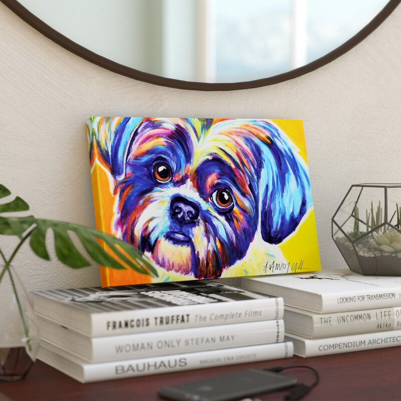 East Urban Home Lacey The Shih Tzu Painting Print On Canvas