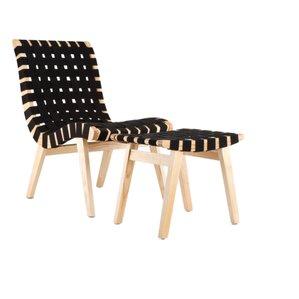 Walser Beach Lounge Patio Chair With Ottoman