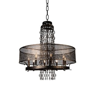 Pollett 8-Light Drum Chandelier by CWI Lighting