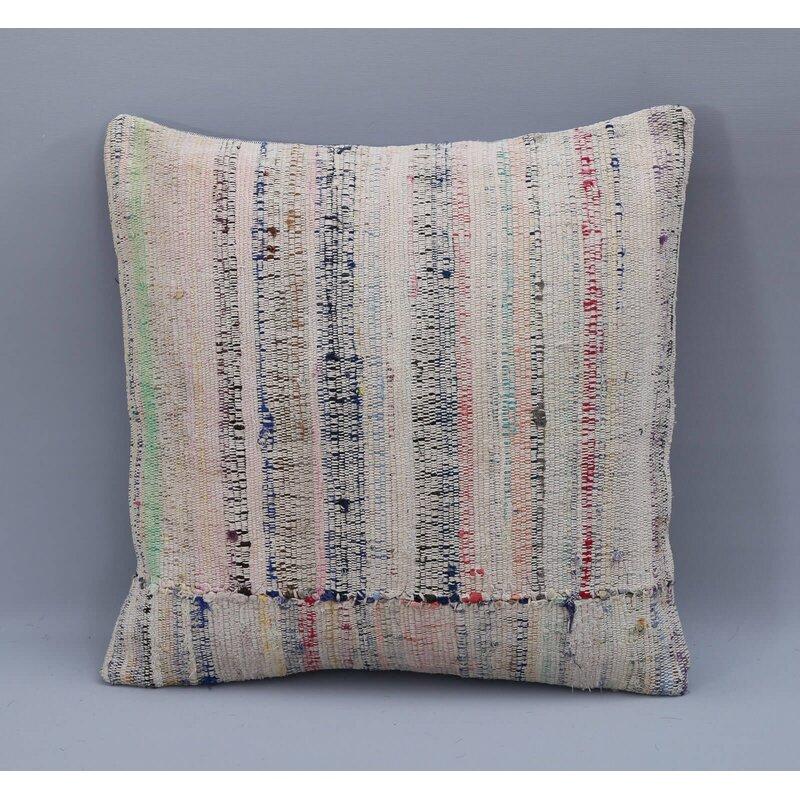 Dakota Fields Square Wool Pillow Cover And Insert Wayfair