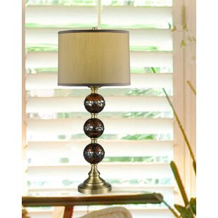 shelley Mosaic Hand Blown Art Glass 32 Table Lamp