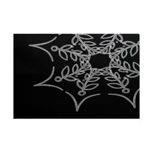 Web Art Holiday Print Black Indoor/Outdoor Area Rug
