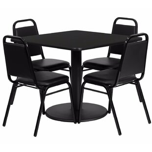 Maverick Square Laminate 5 Piece Dining Set