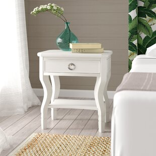 Rowe 1 Drawer Nightstand by Beachcrest Home Best