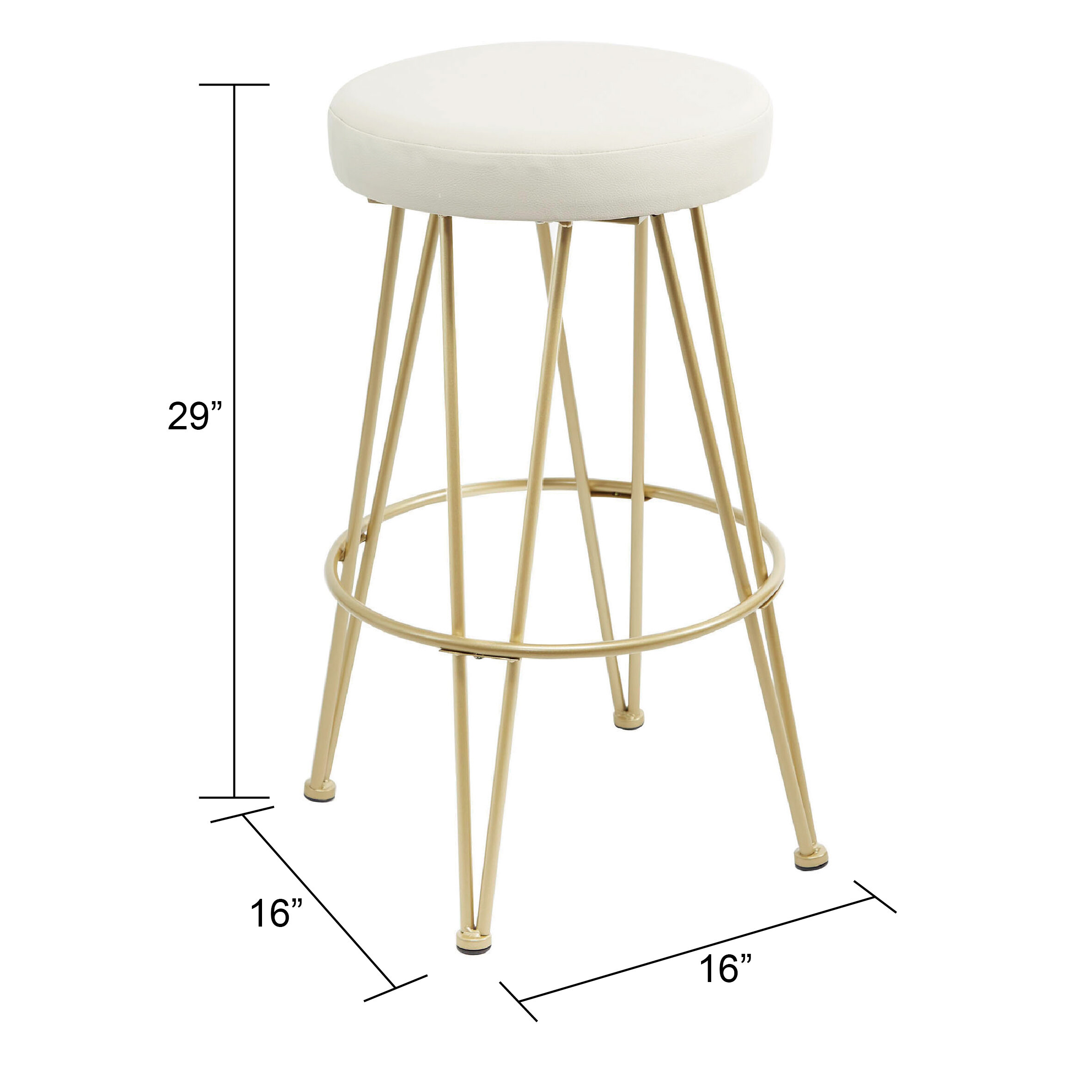 Barnet Upholstered 29 Bar Stool Reviews Joss Main