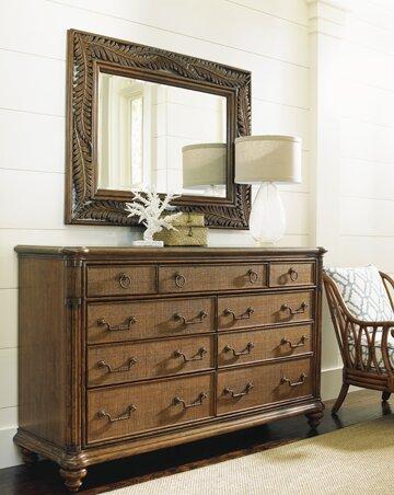 bali hai 9 drawer dresser with mirror
