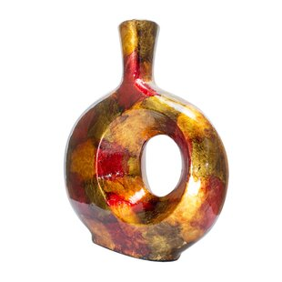 Dekker Foiled And Lacquered Table Vase by World Menagerie Best #1