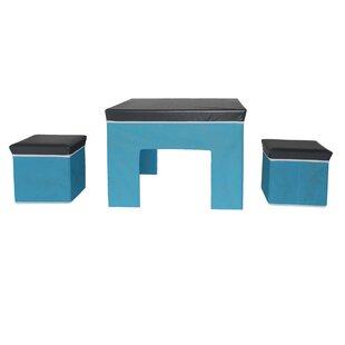Inexpensive Hennigan Kids 3 Rectangular Table and Stool Set ByZoomie Kids