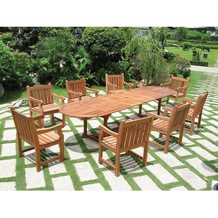 Vista 9 Piece Dining Set II by Vifah Best Choices