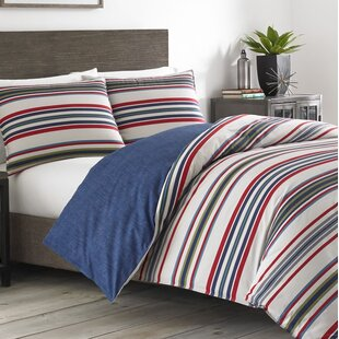 Brewster Stripe 100% Cotton Reversible Comforter Set