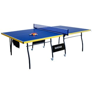Bounce Regulation Size Foldable Indoor Table Tennis Table with Paddles and Balls by Hathaway Games