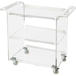 Runyan Acrylic Trolley Bar Cart by Willa Arlo Interiors