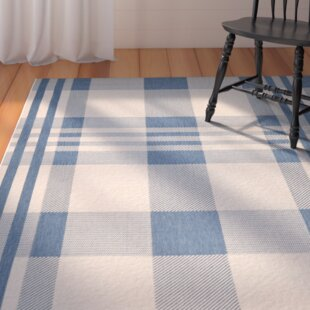 Frazier Beige/Blue Indoor/Outdoor Area Rug