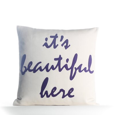 It's Beautiful Here Outdoor Throw Pillow by Alexandra Ferguson Design