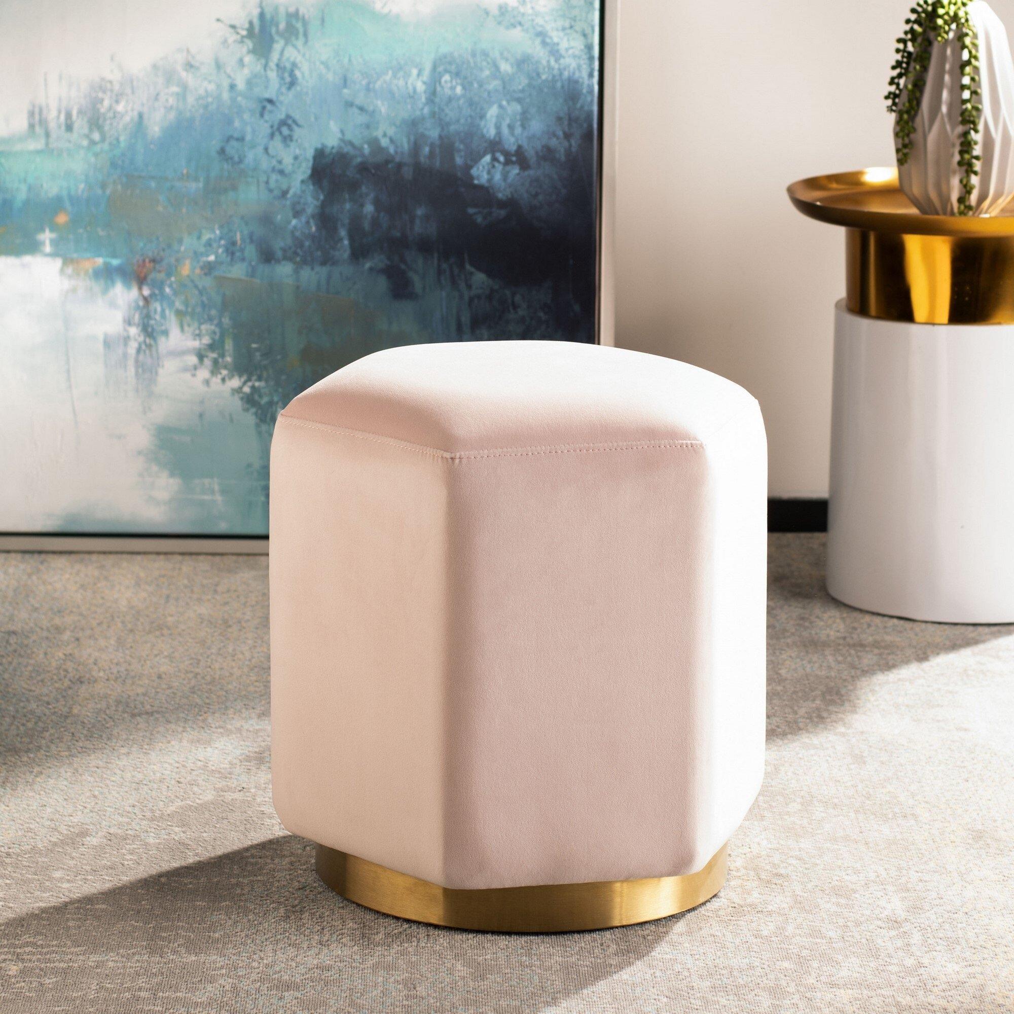 Prime Brayden Hexagon Velvet Ottoman Lamtechconsult Wood Chair Design Ideas Lamtechconsultcom