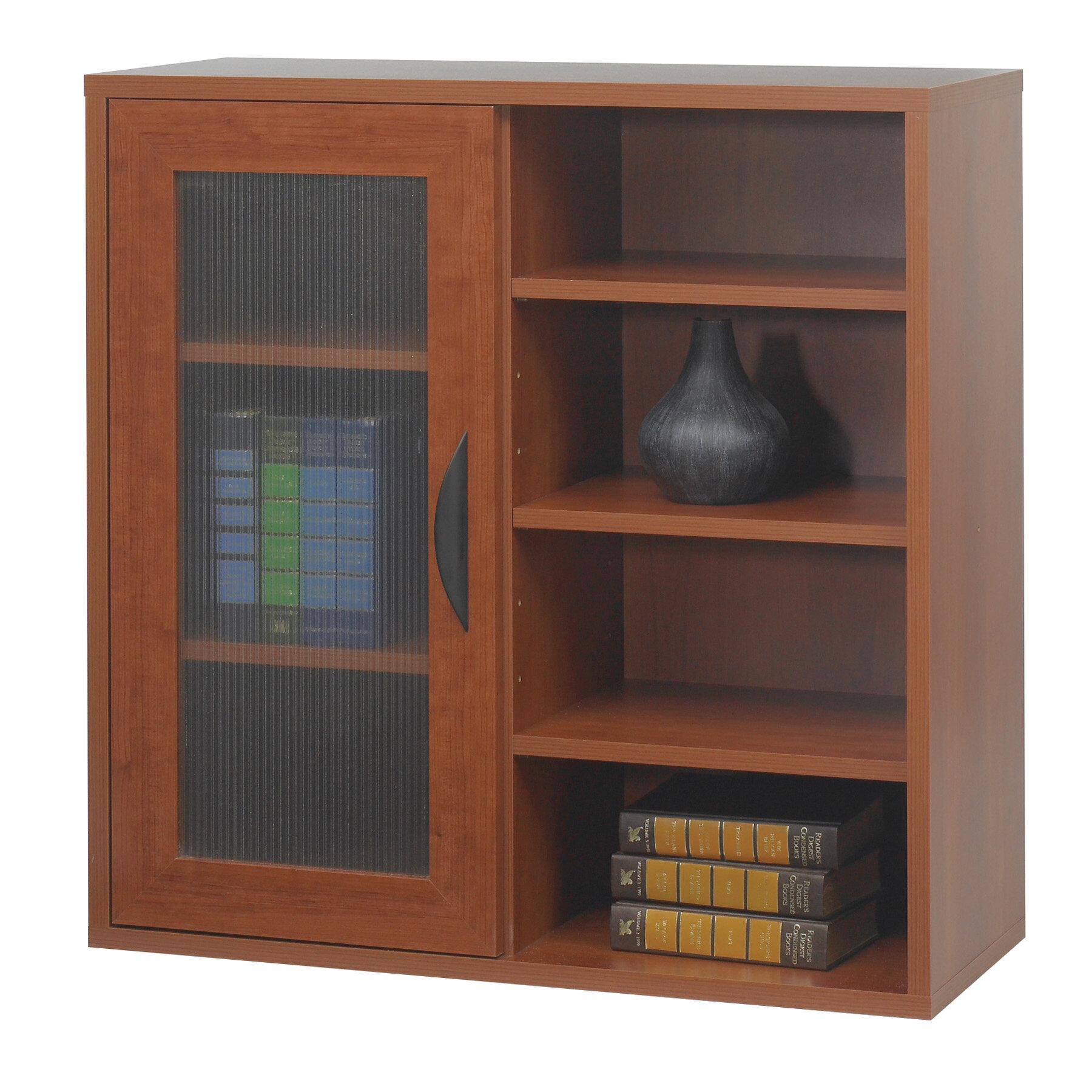 Symple Stuff Vanleer Modular Storage Single Door Open Standard Bookcase Reviews Wayfair