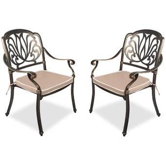 Canora Grey Mccollough Mesh Lattice Patio Dining Chair Wayfair