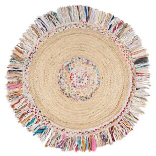 Abhay Handwoven Cotton Ivory Area Rug by Bungalow Rose