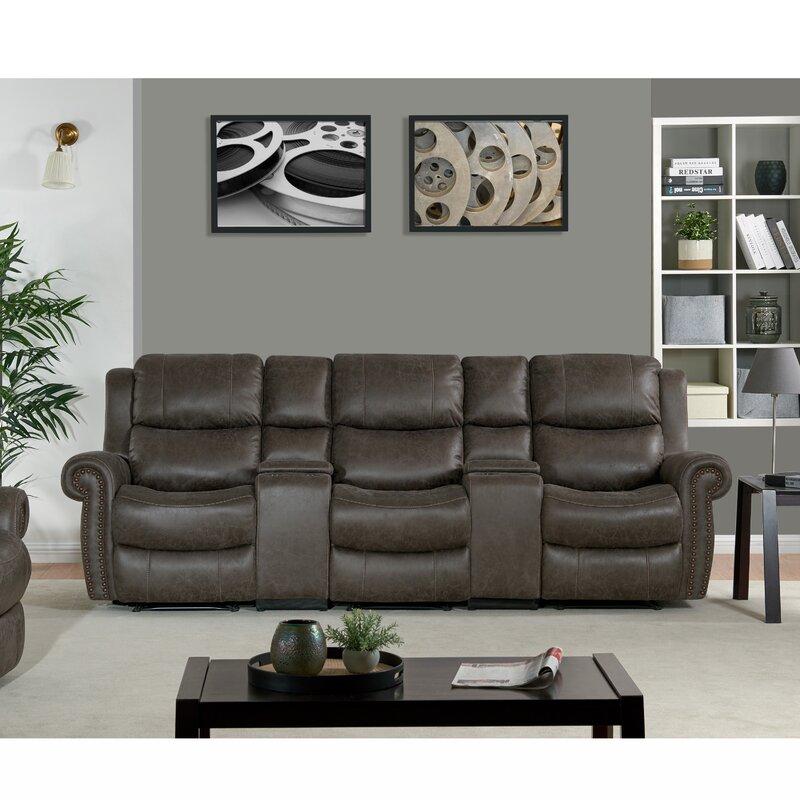 Canora Grey 3 Seat Rolled Arm Wall Hugger Recliner Sofa | Wayfair