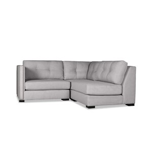 Timpson Buttoned L-Shape Mini Modular Sectional