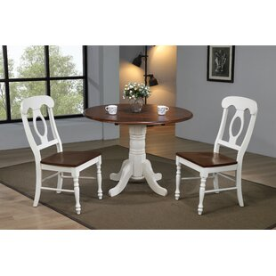 Kenya 3 Piece Drop Leaf Solid Wood Dining Set by August Grove Coupont