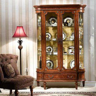 Pritchett Two Door Display Unit China Cabinet by Astoria Grand