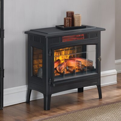 Duraflame Electric 3D Flame Effect Infrared Quartz Electric Stove Finish: Black