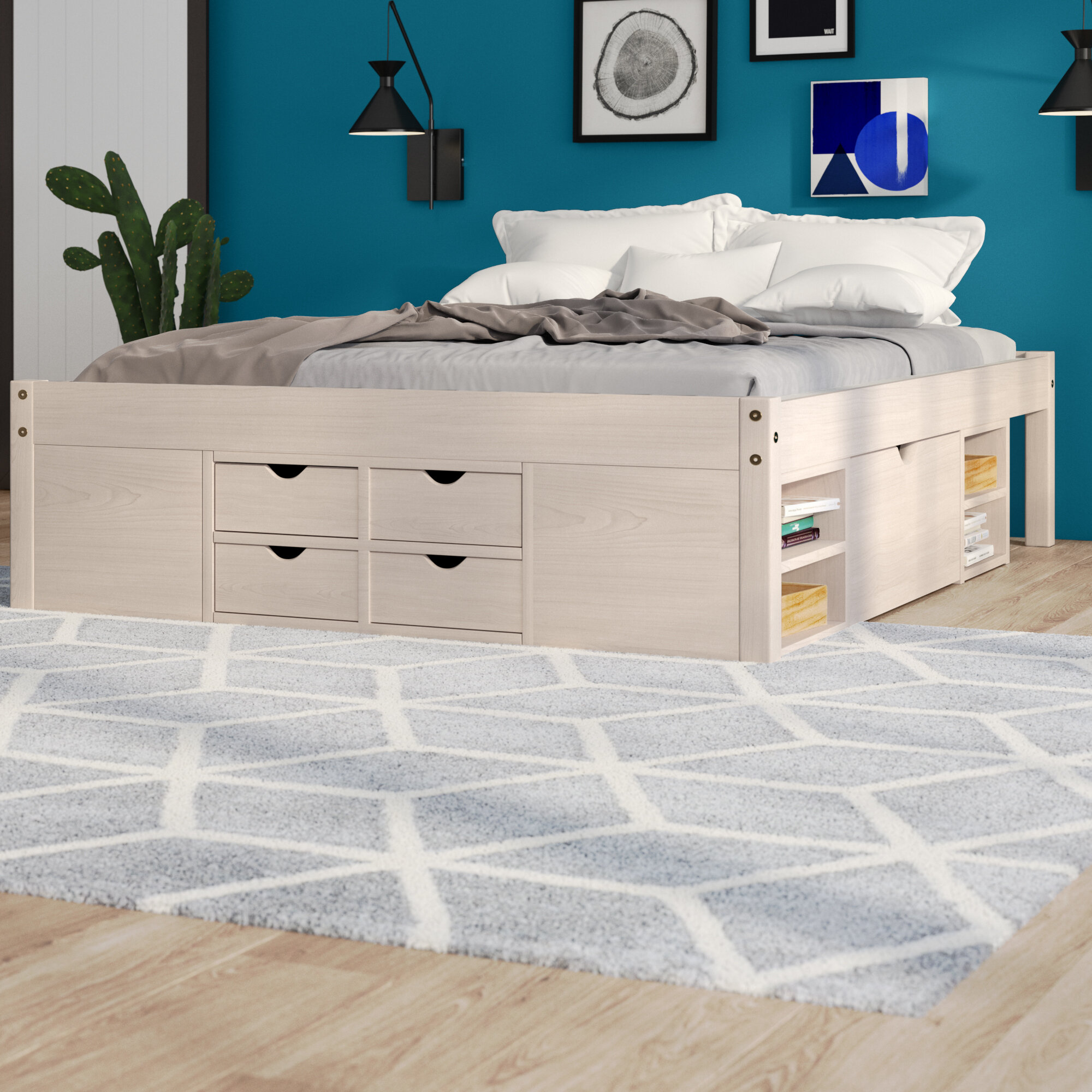 Picture of: Isabelle Max Thomason European Kingsize Bed With Storage Reviews