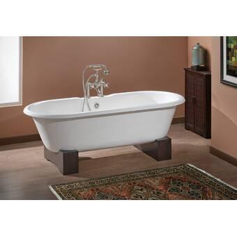 Cheviotproducts Carlton 70 X 32 Freestanding Cast Iron Soaking Bathtub Wayfair