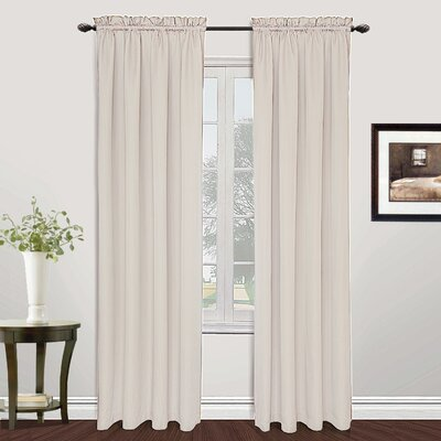 "Metro Solid Sheer Rod Pocket Single Curtain Panel United Curtain Co. Curtain Color: Oyster, Size per Panel: 54"" W x 108"" L"