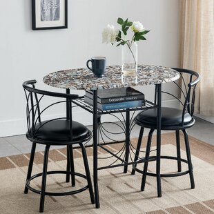 States 3 Piece Pub Table Set Winston Porter