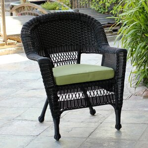 burrowes wicker chair with cushion set of 2