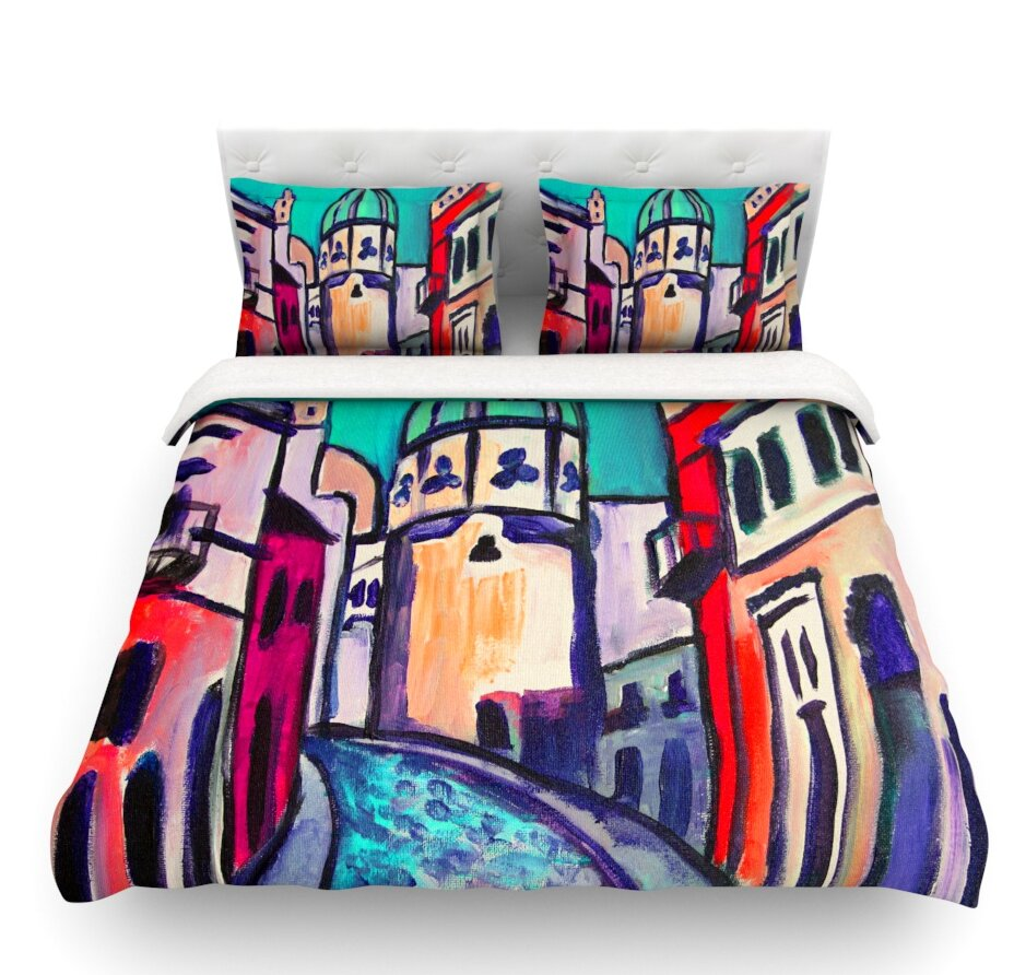 East Urban Home Procida By Theresa Giolzetti Featherweight Duvet Cover U0026  Reviews | Wayfair